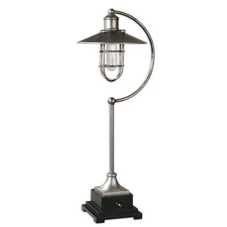 Table Lamps 1 Light With Rust Silver Metal With Matte Black Details Finish Metal Poly Material 26 inch 60 Watts