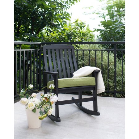 Better Homes & Gardens Delahey Wood Porch Rocking Chair, (Traditional Slat Rocking Chair)