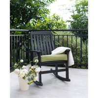 Product Image Better Homes Gardens Delahey Wood Porch Rocking Chair Black