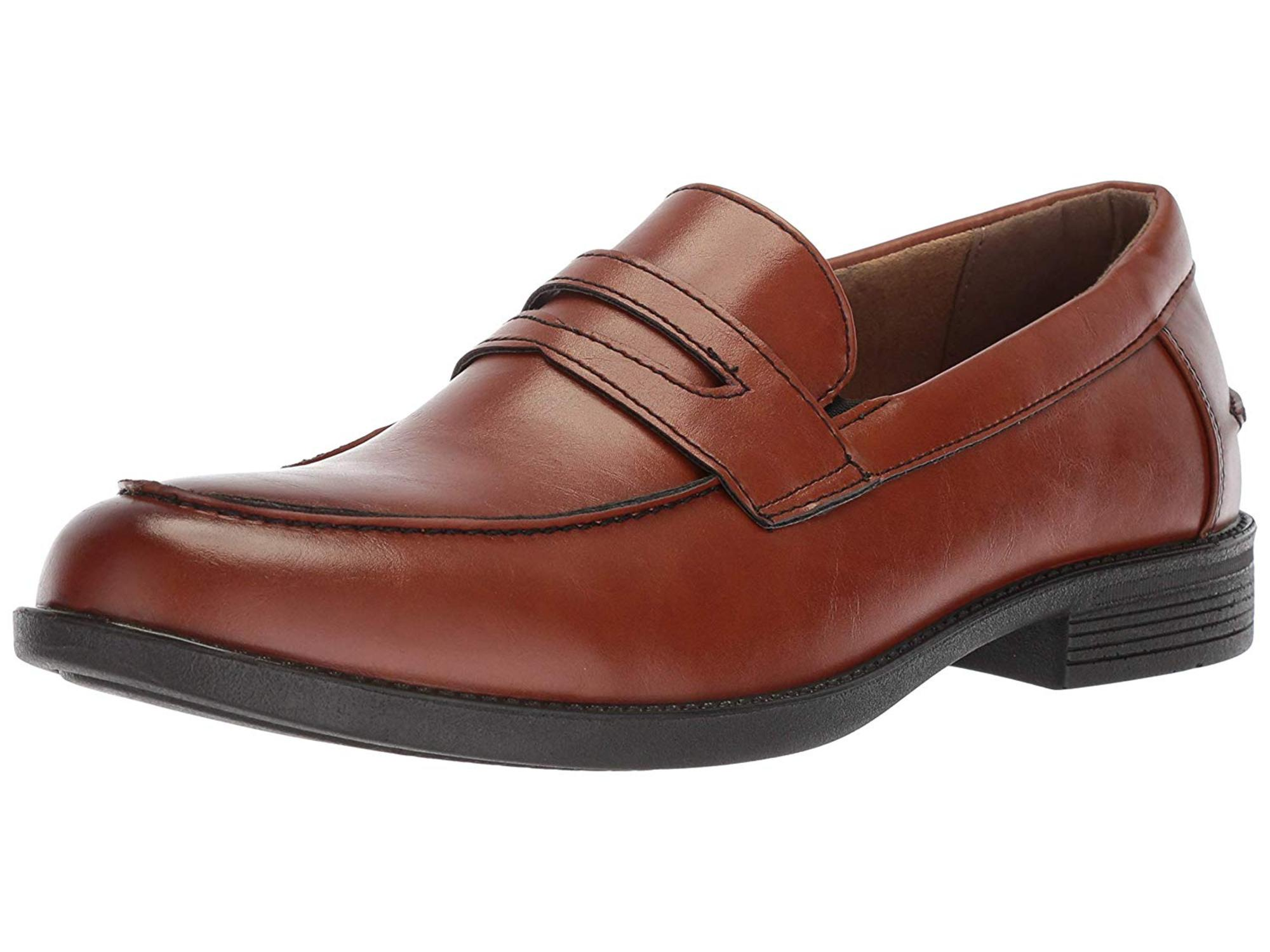 Deer Stags Mens Fund Leather Closed Toe