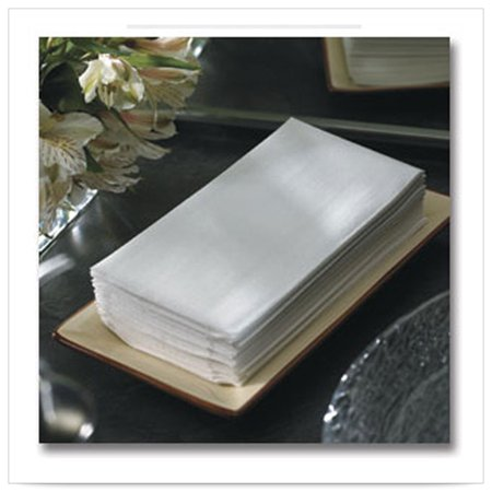 8 x 17 LINEN LIKE White Guest Towel 1/4 Fold/Case of 600