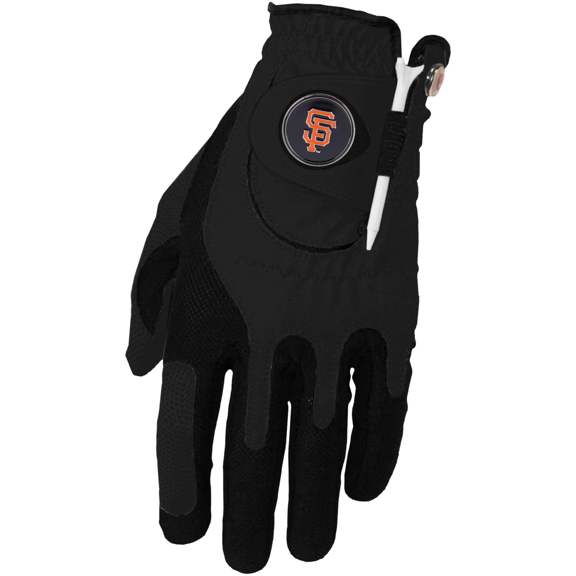 San Francisco Giants Left Hand Golf Glove & Ball Marker Set - Black - OSFM