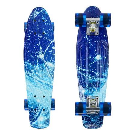 PHAT 22 inch Plastic Skateboard Cruiser Street Surfing Skate Banana Board - image 1 of 7