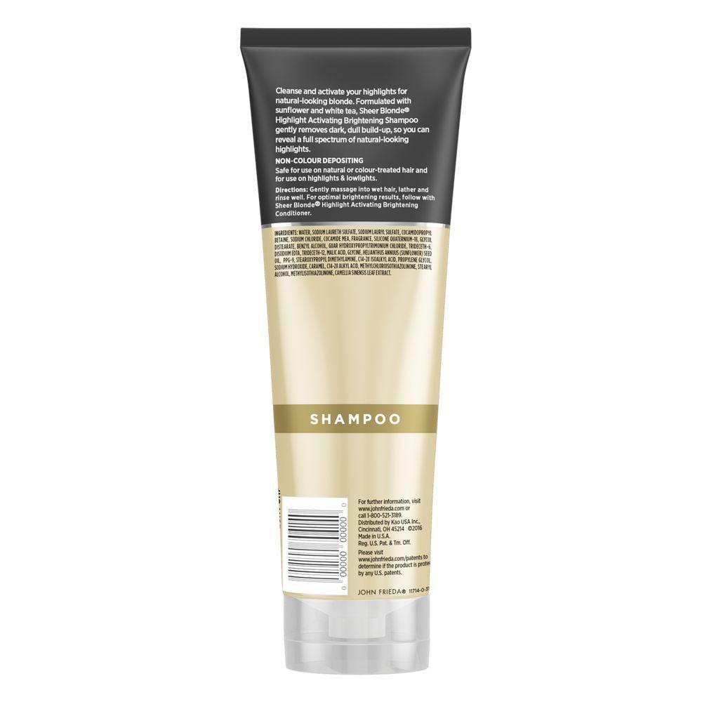 Une Glycine En Pot john frieda sheer blonde highlight activating brightening shampoo, lighter  blondes, 8.45 oz