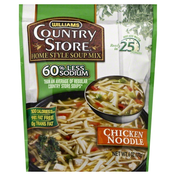 Williams® Country Store® Reduced Sodium Chicken Noodle Home Style Soup Mix 6 oz. Pouch