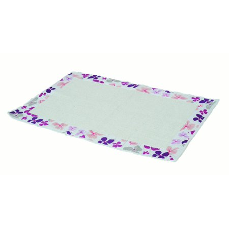 Fine Printed Border Cotton Bathroom Mat Home Rug Softies Purple 20X31 5 Interior Design Ideas Gentotryabchikinfo