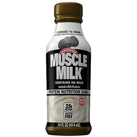 CytoSport Muscle Milk Protein Shake, RTD Cookies N CRME, 12 - 14 bouteilles Oz Fl