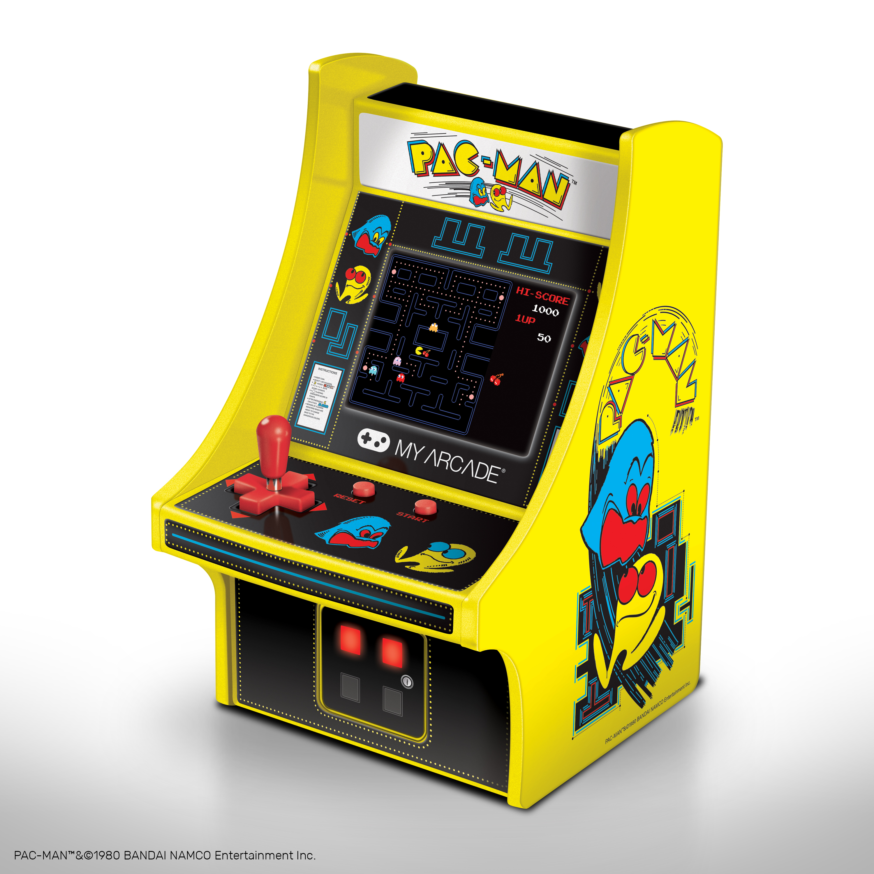 "6"" COLLECTIBLE RETRO PAC-MAN MICRO PLAYE"
