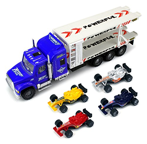 Formula Race Transport Trailer Children's Friction Toy Semi Truck Ready To Run 1:32 Scale... by Velocity Toys