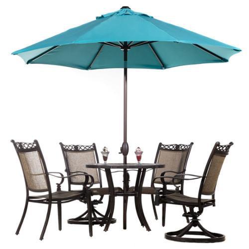 Abba Patio Auto Tilt Crank Sunbrella 9 Foot Patio Umbrella(Refurbished) 9 Ft; Red