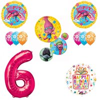 TROLLS Movie 6th Happy Birthday Party Balloons Decoration Supplies Poppy Bran...