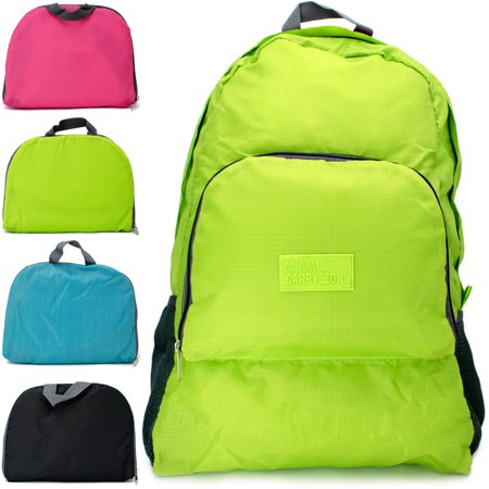 Foldable Backpack, Green
