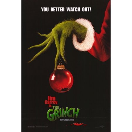 Grinch Poster (Dr Seuss How the Grinch Stole Christmas Movie Poster (11 x)