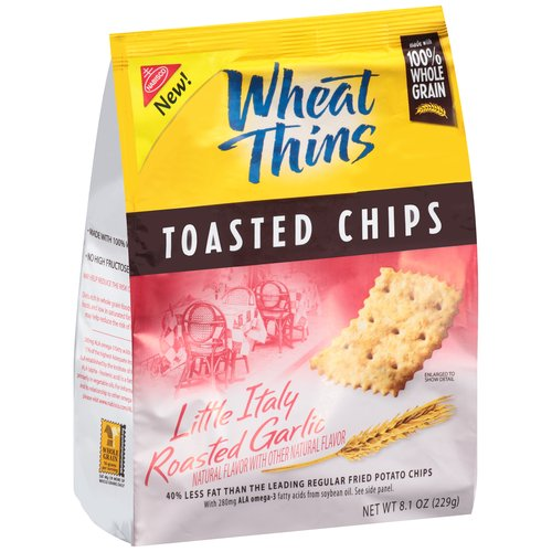 Nabisco Wheat Thins Toasted Chips Little Italy Roasted Garlic, 8.1 oz