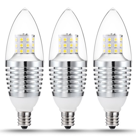 Candelabra Base LED Bulbs, 7W(65-70 Watt Equivalent) Chandelier LED ...