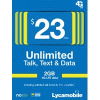 Lycamobile $23 Unlimited 30 Day Plan with International Calling (with 3GB of high speed data, then 2G) (Email Delivery)