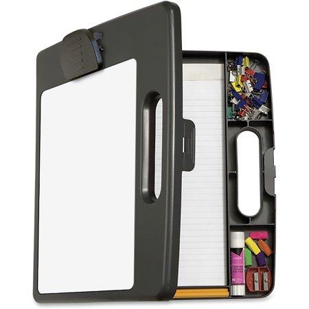 OIC, OIC83382, Portable Dry-erase Clipboard Box, 1 Each, Charcoal