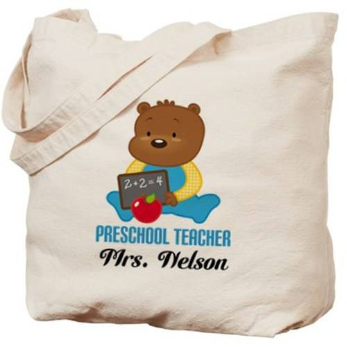 Cafepress Personalized Preschool Teacher Personalized Tote Bag