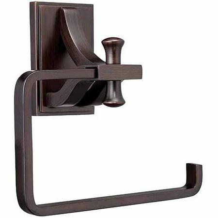 Design House 560060 Ironwood Toilet Paper Holder, Brushed Bronze Finish