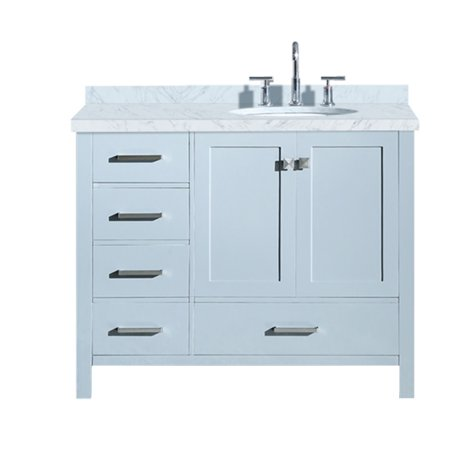 ARIEL CAMBRIDGE 43 IN. RIGHT OFFSET SINGLE OVAL SINK ...