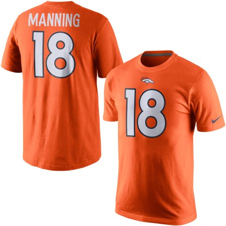 new products a598b 521f6 Peyton Manning Denver Broncos Nike Player Pride Name & Number T-Shirt -  Orange - L