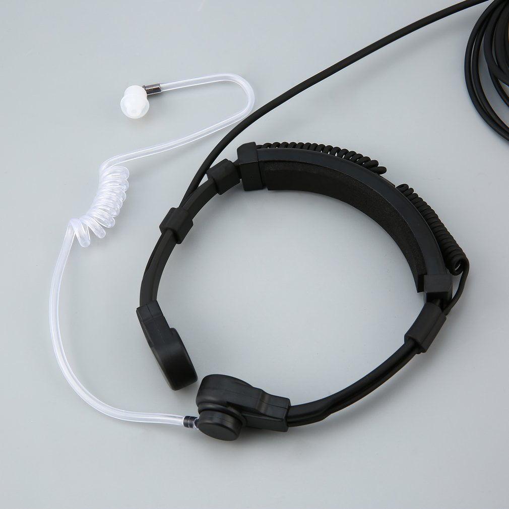 Acoustic Tube Throat Vibration Headset Earpiece for Walkie Talkie Radio
