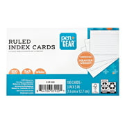 """Pen + Gear Ruled Index Cards, 3"""" x 5"""", 100 Count, White"""