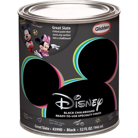 Disney Great Slate Chalkboard Black Interior Specialty Paint 1 Quart