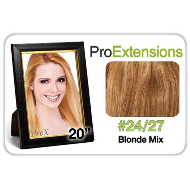 Pro Fusion 20 in. , No.24-27 Light Blonde with Dark Blonde Highlights