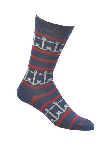 Ozone Socks - Interlocking Anchors Sock - Cream