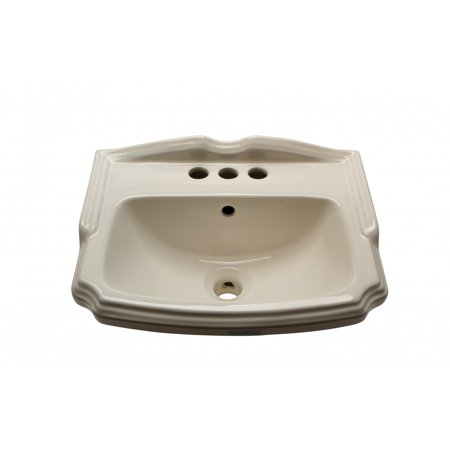 "Bathroom Sink Small Bone China Cloakroom 19"" Wall Mount"