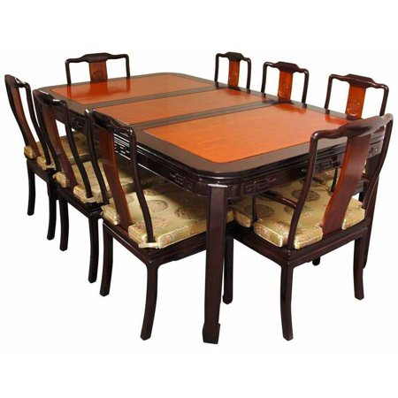 Rosewood dining room set two tone for 2 tone dining room sets