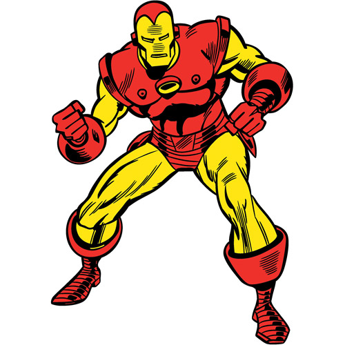 Marvel Classic Iron Man Peel-and-Stick Giant Wall Decals