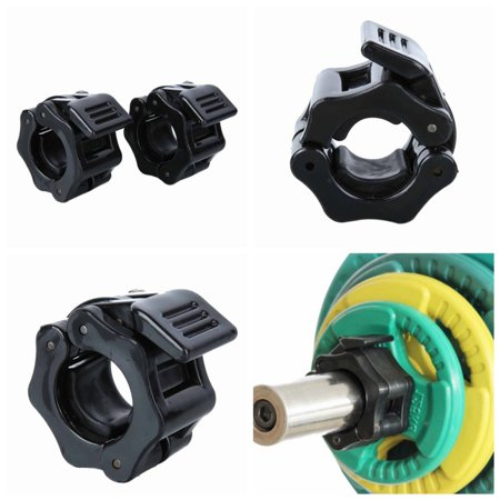 Marainbow 2pc 25mm Exercise Weight Collar Gym Fitness Clamps Lock Dumbbell Spring Collars Weightlifting Tool Barbell