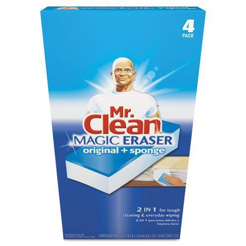 "Mr. Clean Magic Eraser Plus - Pad - 3"" Width X 3"" Length - White (82028_40)"