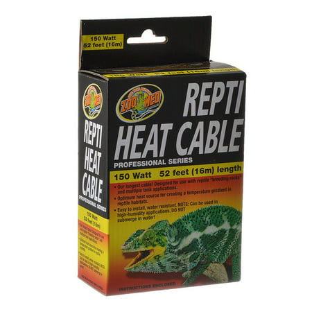 Zoo Med Repti Heat Cable 150 Watts 52 ft