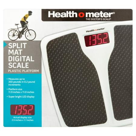Health O Meter The Doctors Scale Split Mat Digital Scale