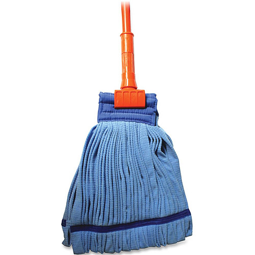 "Genuine Joe Microfiber Complete Wet Mop with, 60"" Gripper Handle"