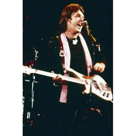 Paul McCartney 1970's Wings era in concert playing guitar 24x36