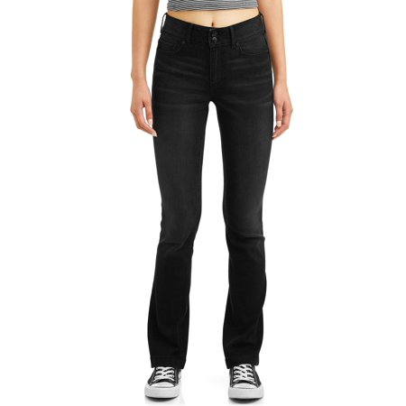 No Boundaries Juniors' High Waisted Bootcut Jeans (Juniors So Perfectly Soft Embroidered Bootcut Jeans)