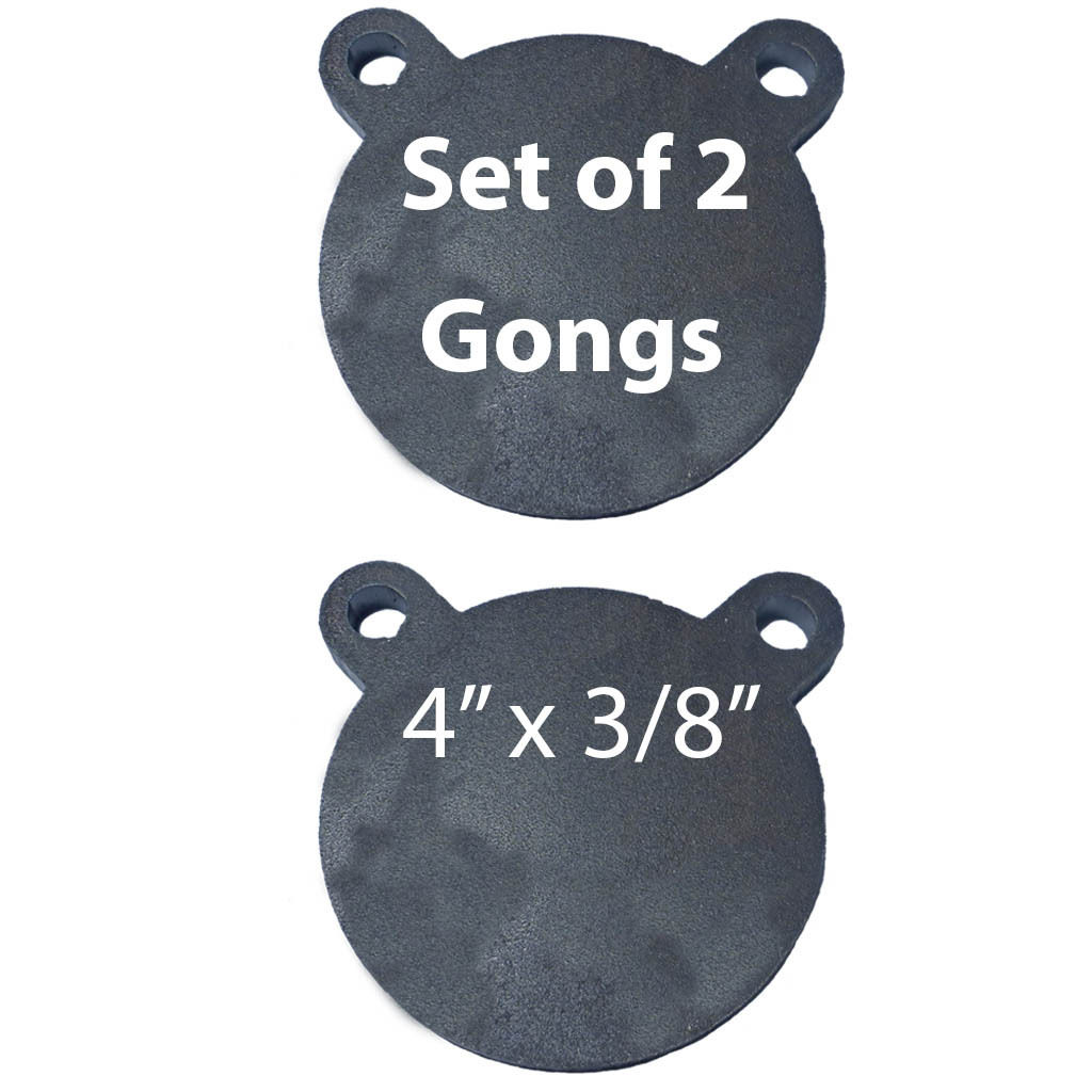 """AR500 Steel Targets Lot of 2 Laser Cut 4"""" x 3/8"""" Shooting Gong Tactical Scorpion"""