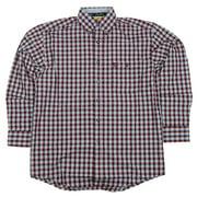 Wrangler Mens George Strait Long Sleeve Flannel Plaid Shirt MGS19RM (X_Large-Tall)