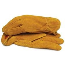 BLACKCANYON OUTFITTERS Split Leather Gloves with Red Fleece Lining and Elastic Wrist X-Large 91030 Multi-Colored