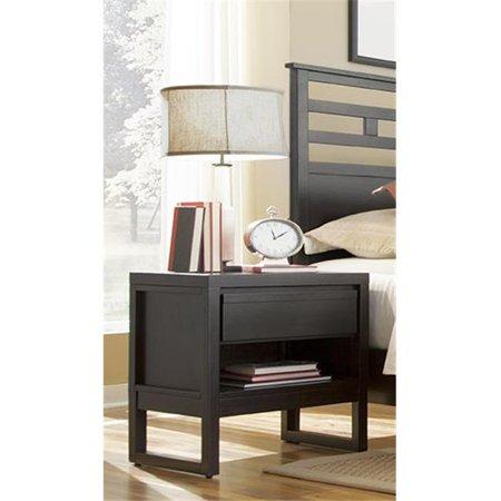 ProComfort Athena Transitional Style Night Stand, Dark Chocolate