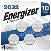Energizer 2032 Batteries, Lithium Coin Cell 3V Batteries (4 Pack)