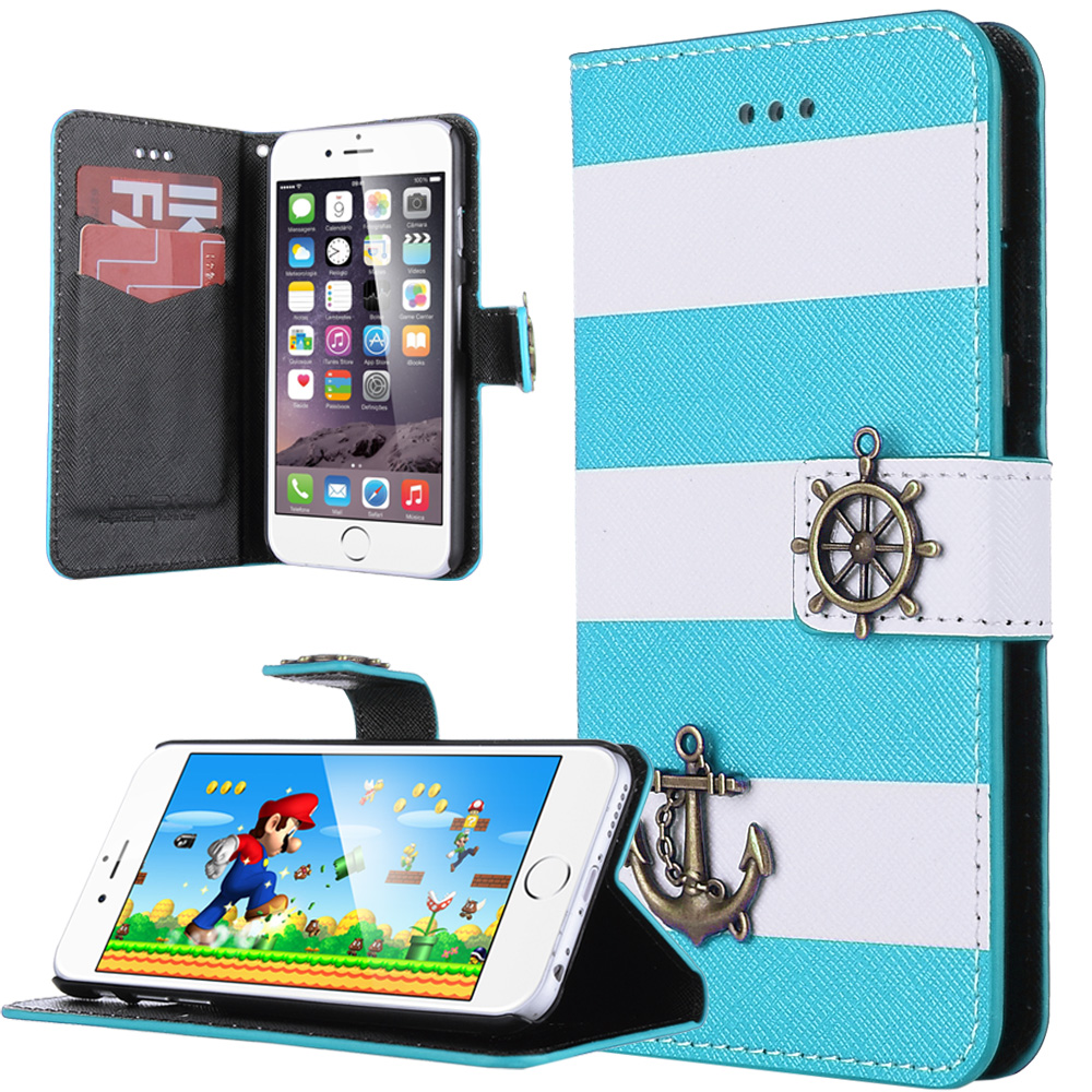 ULAK iPhone 6s Case / iPhone 6 Case Wallet Cover with Credit Card Slots Wrist Strap