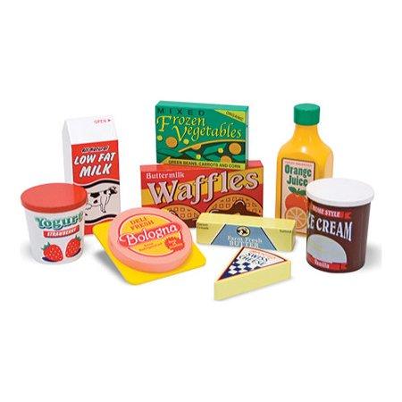 Foot Toy - Children's Melissa & Doug Wooden Fridge Food Set