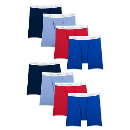 Fruit of the Loom Men's Boxer Briefs - Blue/Red S