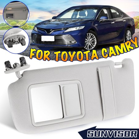 Camry Lh Left Power Mirror (For Toyota Camry 2007-2010 2011 Front Left Driver Side Sun Visor w/ Mirror Gray #7432006780B0)