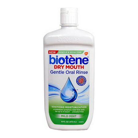 Biotene Dry Mouth Wash Gentle Oral Rinse, Mild Mint, 16 Oz, 6 Pack -  Biotene Mouthwash